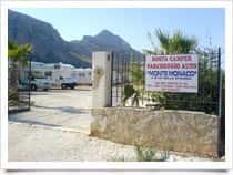 Camper area Monte Monaco - Camper stop area San Vito Lo Capo (Sicily)