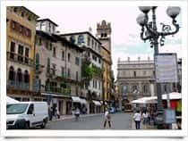 Piazza delle Erbe -  a Verona (Veneto)