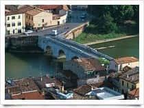 Ponte di Tiberio - Ponte di epoca romana - I secolo, a San Giuliano Mare / <span class=&#39;notranslate&#39;>Rimini</span> (Emilia Romagna)