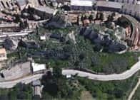 Castello Pietrarossa - ruderi a Caltanissetta (Sicilia)