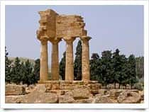 Temple of Castor and Pollux or Castor and Pollux - Valley of the Temples in Agrigento (Sicily)