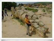 Campo dell'Olympeion - Valley of the Temples in Agrigento (Sicily)