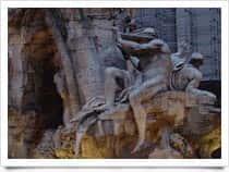 Fontana dei Quattro Fiumi a Roma