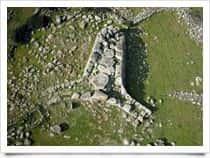 Tomb of the Giants Sa Domu 'e S'Orcu - Nuraghic archaeological site at Sa Fogaia - Altipiano di Siddi / Siddi (Sardinia)
