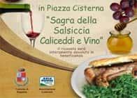 Sagra della Salsiccia Caliceddi e Vino - Autunno Ragalnese, a Ragalna (Sicilia)